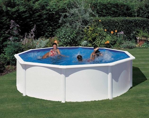 - Piscina Caribe rotonda Technypools -  Forma ottagonale, materiale PVC trattato anti alghe ed anti UV.  #piscina #giardino