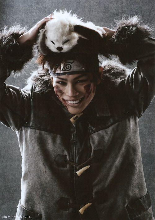 Yuta Iiyama as Kiba Inuzuka Live Spectacle Naruto - 2016