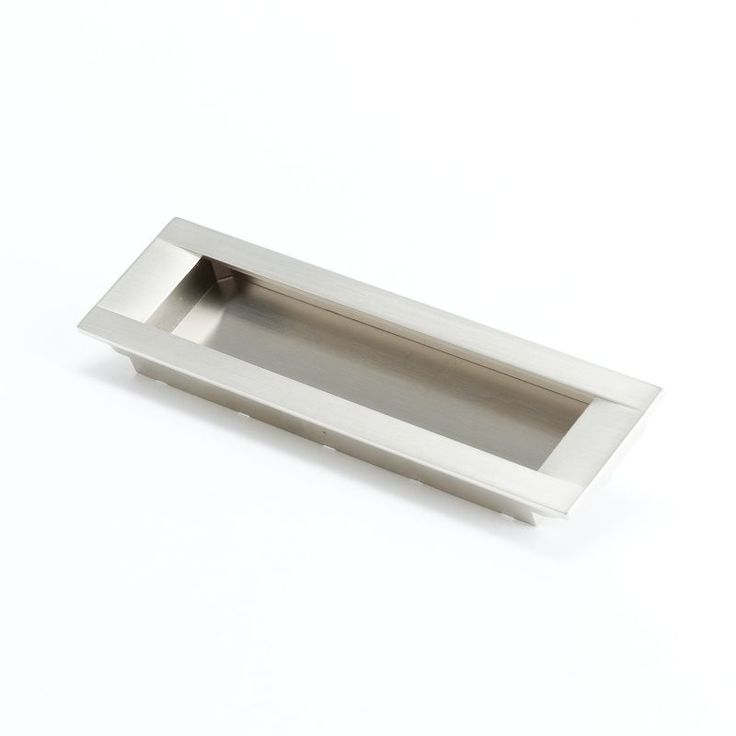 brushed nickel cabinet hardware u003e recessed pulls see more from myknobs r christensen seize inch center to center flush cabinet