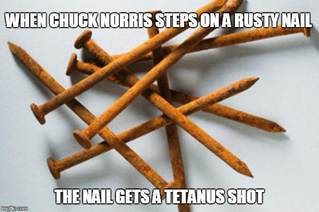 Chuck Norris rusty nail