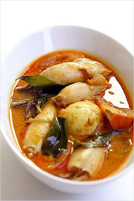 Seafood Recipes : Squid Curry Recipe (Indian Gulai Sotong Recipe)