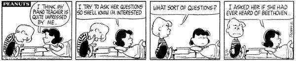 23 October 1963 #LucyAndSchroeder #SchroedersPiano #LucysPiano #Beethoven