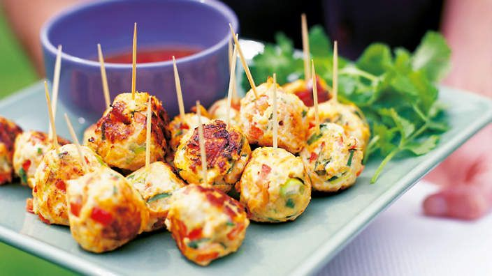 Thai Chicken Balls Thai The old trick of hiding vegetables in minced meat always works. Sometimes we add even more than this recipe suggests, or sometimes none at all to suit our tastes. These chicken balls are also good as nibbles with a bowl of sweet chilli sauce.