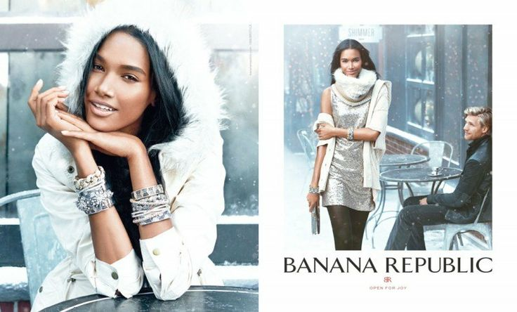banana republic holiday1 800x483 Jessica Stam & Arlenis Sosa Front Banana Republics Holiday 2013 Ads