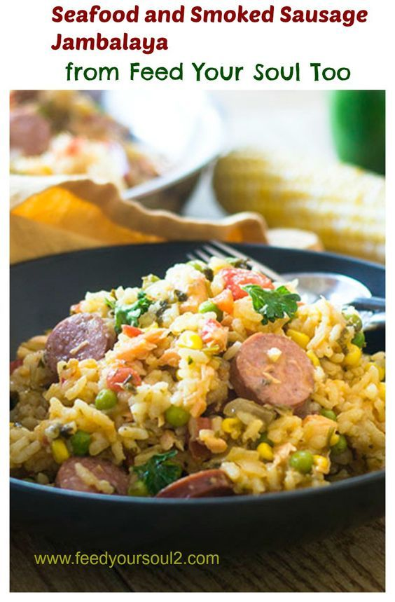 Seafood and Smoked Sausage Jambalaya from Feed Your Soul Too