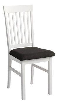 48 eur kus Jedál. stolička AULUM biela sivý poťah | JYSK