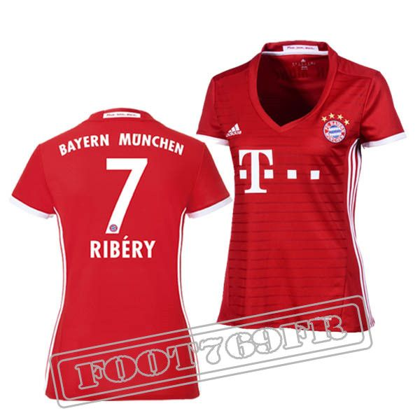 Promo Maillot Du Ribery 7 Bayern Munich Femme Bordeaux/Blanc 16/17 Domicile : Bundesliga
