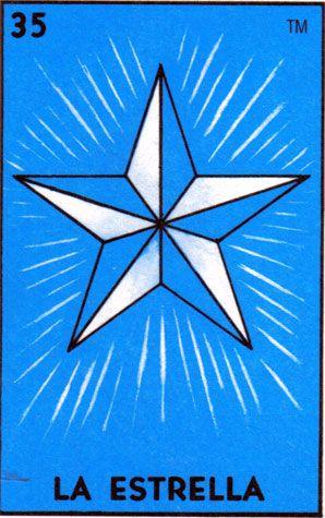 loteria, mexican, star, la estrella - Loteria Mexicana - Mexican Bingo
