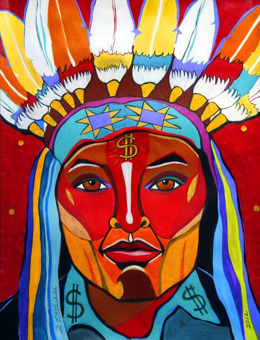 Bling Bling Chief | George Littlechild – Canadian First Nations Artist (Cree)