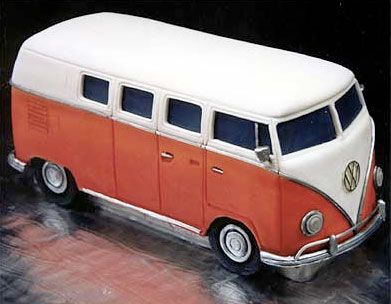 VW Bus Cake from Mikes Amazing Cakes - this is CAKE???