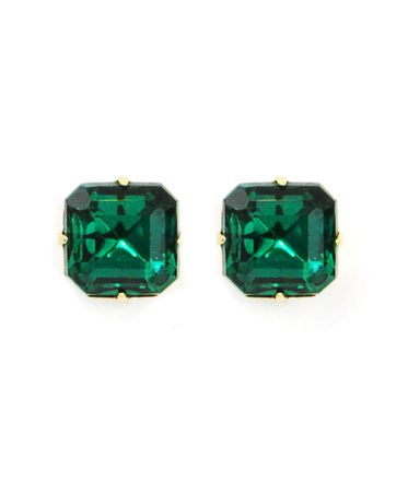 http://rubies.work/0362-sapphire-ring/ Sophia Stud in Emerald. Oh how I would love a pair of simple emerald earrings like this.