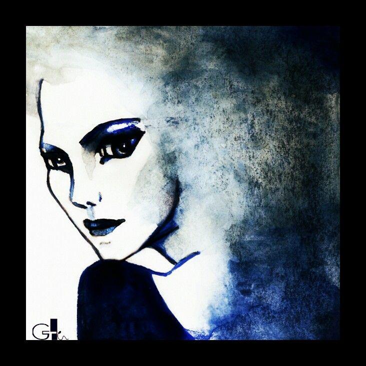 #venice #watercolor #waterbrush #drawing #art #painting #ink #illustration #woman #white #black #design #artwork  #sketch #fashion @G a i a T e l e s c a  | GAIA TELESCA |