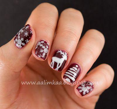 Aalimkaa: NaoNail Dark Cherry i White Collar w świątecznym wydaniu