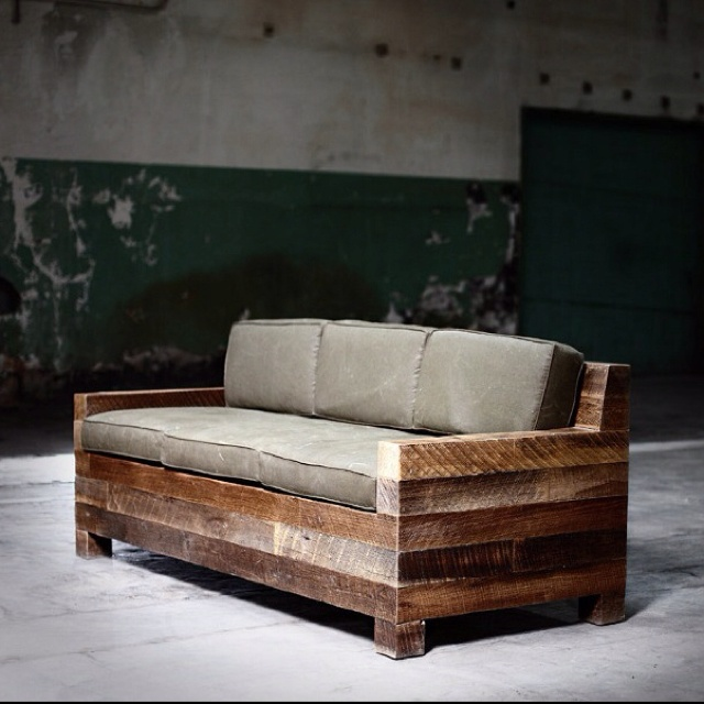 4x4 beam couch reclaimed wood pinterest awesome Reclaimed wood patio furniture