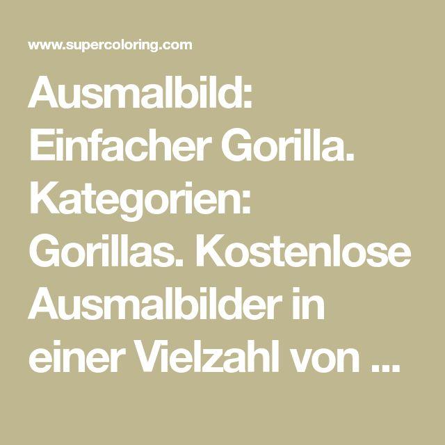 ausmalbild einfacher gorilla kategorien gorillas