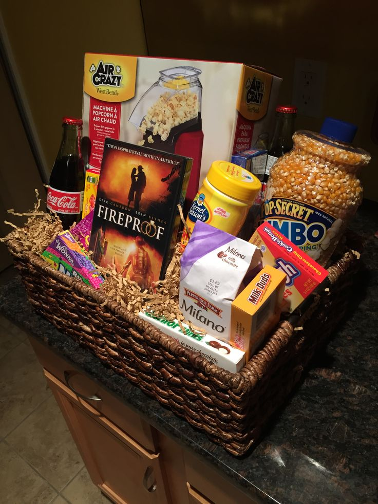 Movie Night Basket for a Silent Auction or Fundraiser