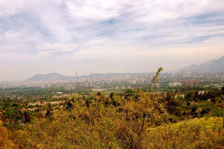 Santiago, desde la comuna de La Reina.