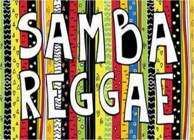 Samba-reggae is a music genre from Bahia, Brazil. Samba-reggae, as its name suggests, was originally derived as a blend of Brazilian samba with Jamaican reggae as typified by Bob Marley... http://brazilianpercussion.blogspot.com/2014/01/samba-reggae.html