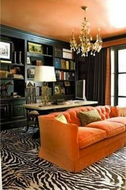 rich orange with zebra.