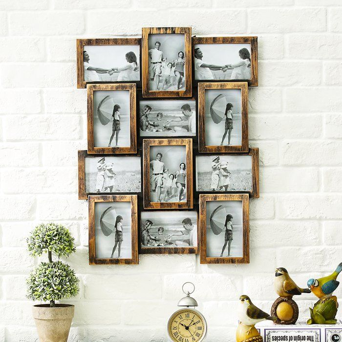 12 Piece Keely Retro Picture Frame Set Picture Frame Crafts Frame Wall Collage Farmhouse Picture Frames