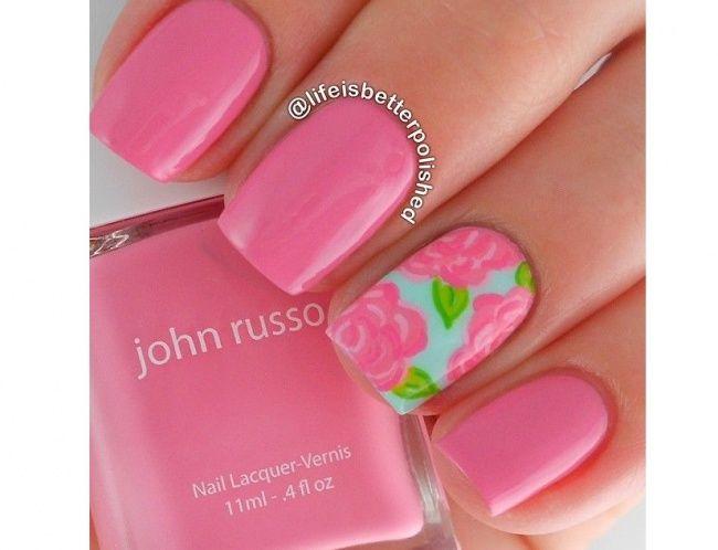 20 pomysłów na różowy manicure. Słodkie wzorki na paznokcie na lato! - Strona 20