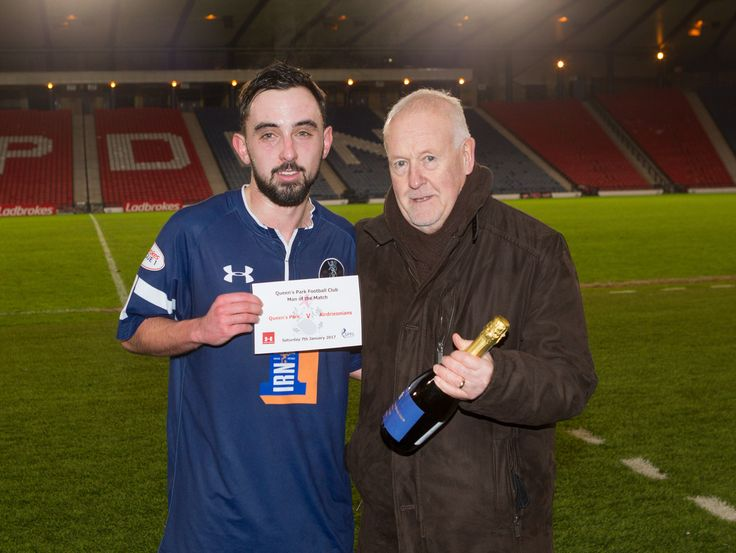 Queen's Park's Anton Brady - man of the Match - after the Ladbrokes League One game between Queen's Park and Airdrieonians.