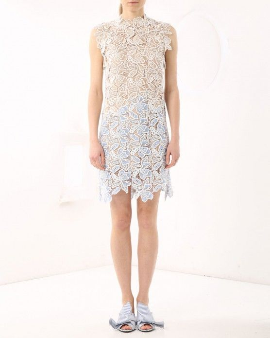 Mini dress with floral embroidery N°21 #N21 #lace #dress  #fashion #style #stylish #love #socialenvy #me #cute #photooftheday #beauty #beautiful #instagood #instafashion #pretty #girl