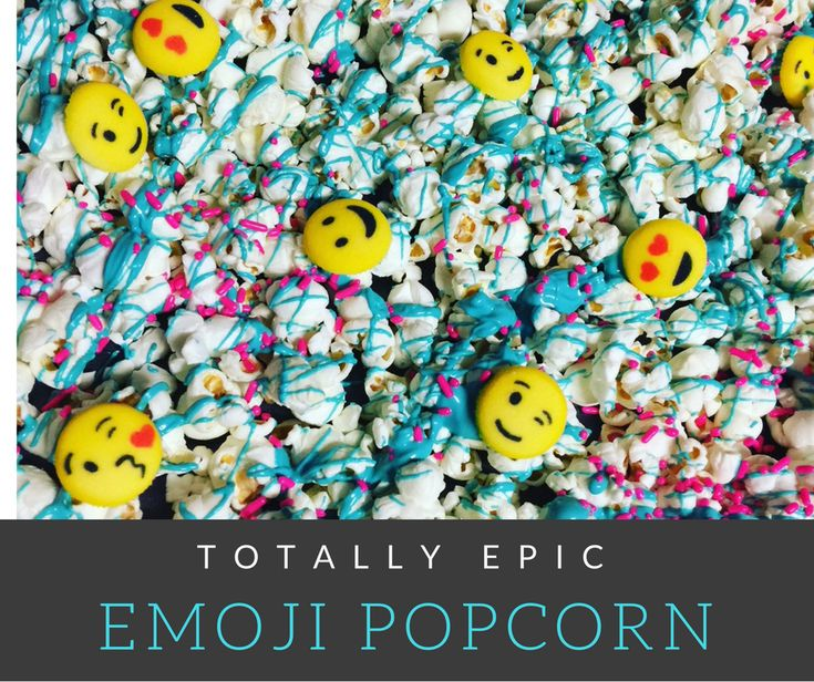 Forget serving regular popcorn at your next birthday party, sleepover or movie night! Try this quick & easy Emoji Popcorn instead!