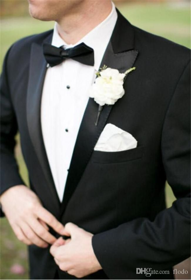 New Black Mens Suits for Wedding 2017 Two Piece Peaked Lapel Cheap One Buttons Custom Made Groom Tuxedos Suit+Pants+Tie Wedding Mens Suits Mens Suit Groom Tuxedos Online with 88.99/Piece on Flodo's Store | DHgate.com
