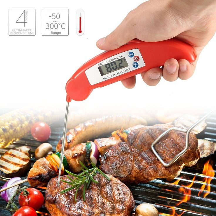 -50~300°C Instant LCD Read Food Probe Meat Kitchen BBQ Thermometer Temperature