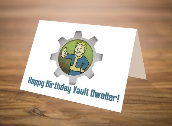 Fallout Birthday Card