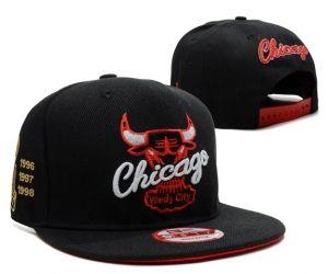 Casquette NBA Chicago Bulls Snapback Champion Noir : Casquette Pas Cher