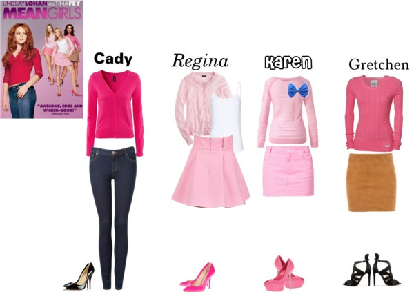 """Mean Girls Outfits"" by ashleyanna on Polyvore Oh yessss who wants to go tricker treating with me now?!?!?"