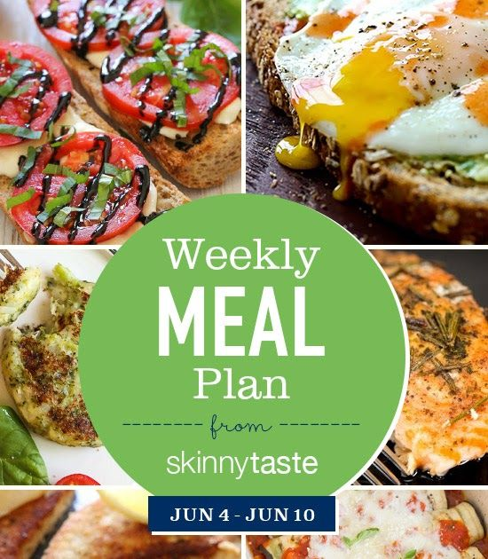Skinnytaste Meal Plan (June 4-June 10)