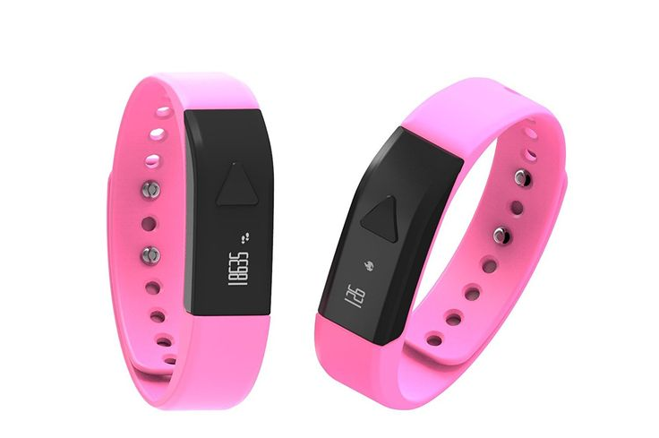 Iwown I5 Smart Bracelet Waterproof Bluetooth Adjustable Wristband Smart Fitness Tracker Sport Watch For IPhone 6 Pink ** To view further for this item, visit the image link.
