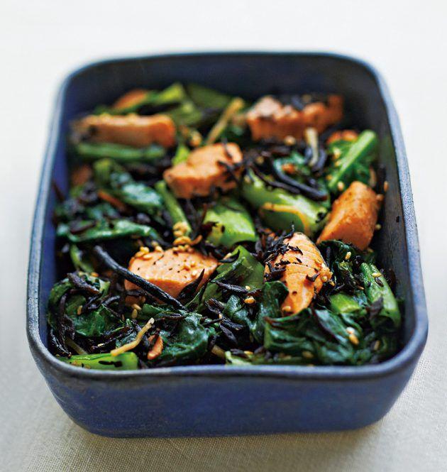 カルシウム豊富な小松菜+ひじき。