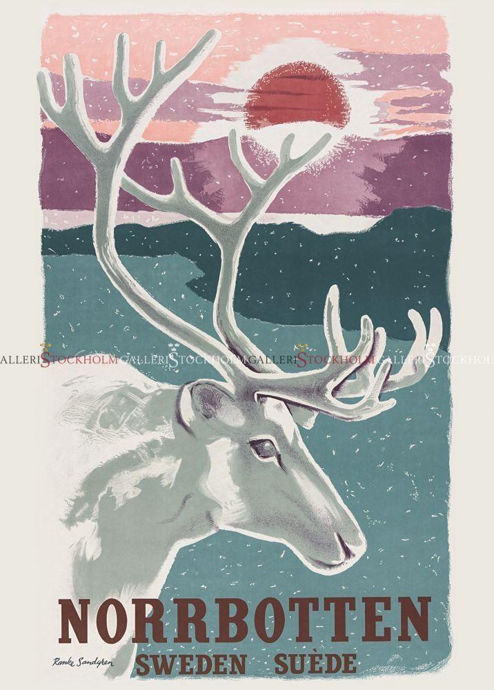 Ranke Sandgren - Affischer Retro - Norrbotten