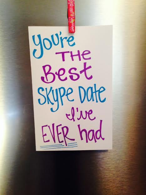 You're The Best Skype Date I've EVER Had  Cute by BeardedCatLady
