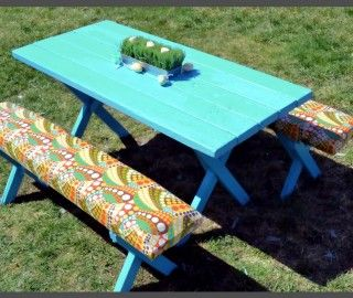 14 Extraordinary Picnic Table Bench Cushions Pic Ideas
