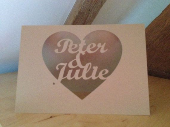 Papercut Custom 'I love you' Valentine Greetings by weheartcards
