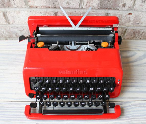 Impress your poetic Valentine with a Valentine.  You're welcome. ||  OLIVETTI Valentine typewriter