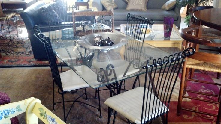 walmart mainstays 5 piece glass top metal dining set images
