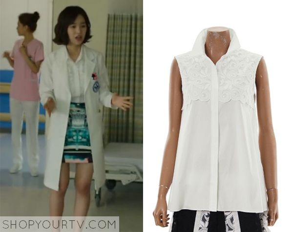 Doctor Stranger: Episode 7 Song Jae Hee's White Lace Blouse - ShopYourTv