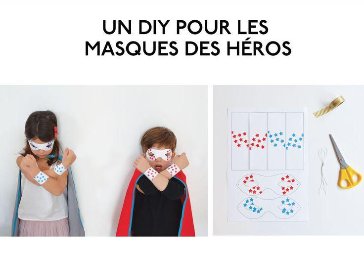 #tuto : des masques pour super-héros, par My Little Day  #DIY