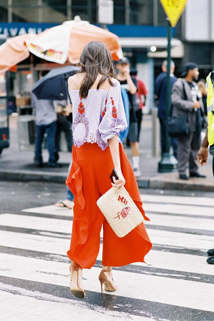 We all have a tendency to stick to our favorite color pairings, whether that means white and denim, red and navy or just black and black. To get you out of your rut, we've compiled four unexpected color combos to bust out at this time of the year, illustrated by a few of our favorite street-style stars.