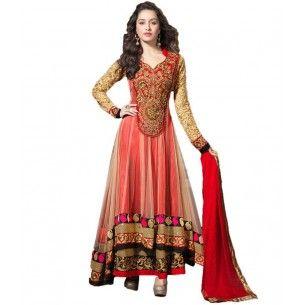 #Designer Suit #Bollywood Replica Salwar Kameez Shop now : http://www.valehri.com/sharaddha-kapoor-red-hand-embroidered-net-anarkali-suit-1592