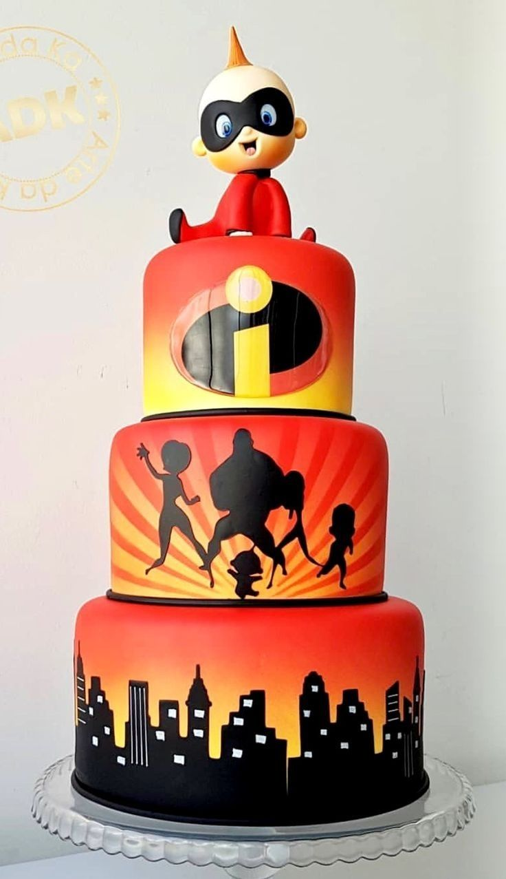Incredibles Birthday Cake Pertaining To Trending In 2020 Cupcake
