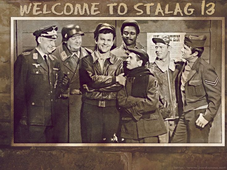 Hogan's Heroes (1965–1971) - Cast and history: http://www.imdb.com/title/tt0058812/  Theme music: http://www.youtube.com/watch?v=oTFkqCEYON8
