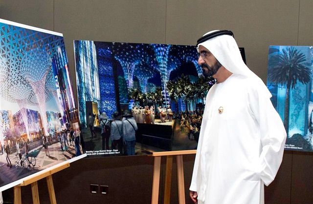 Sheikh Mohammed briefed on implementation of Expo 2020 central hub project