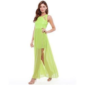KuKu - Everglaze Dress in Neon - Dresses (Neon Yellow)